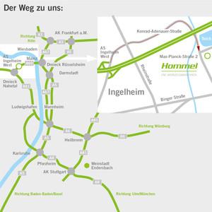 Anfahrt Ingelheim Hommel Unverzagt