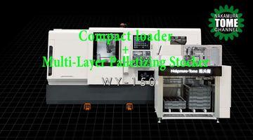 Dreh-Fräszentrum Nakamura-Tome WY-150 mit Kompaktlader und Palettenstocker