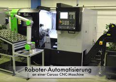 CNC-Drehmaschine Caruso MT-312MC + Roboter-Automation