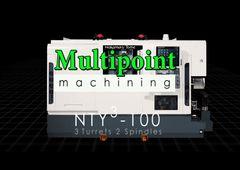 Dreh-Fräszentrum Nakamura-Tome NTY³-100 - Bearbeitung mit 2 Spindeln, 3 Revolvern und 3 Y-Achsen