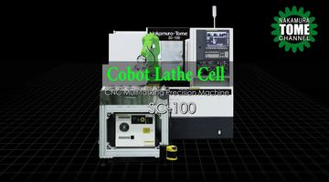 Dreh-Fräszentrum Nakamura-Tome SC-100 mit Cobot Automation