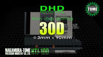 Dreh-Fräszentrum Nakamura-Tome NTJ-100 - Tieflochbohren 3 x 90 mm